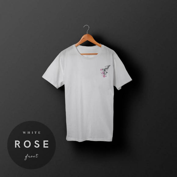 skulleton - rose ( white )