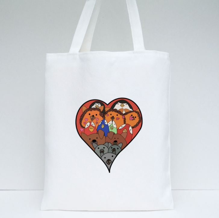 Loving Animals Tote by Joshua (11 y/o - design on both sides)