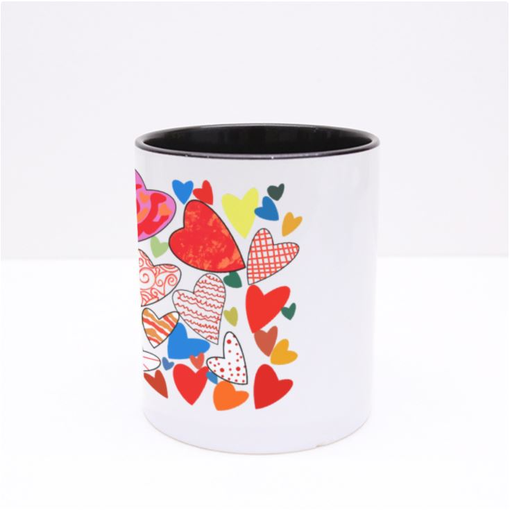Hearts Galore Mug by Jung Si on (12 y/o)