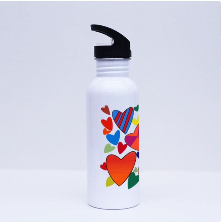 Hearts Galore Sports Flask by Jung Si-On (12 y/o)