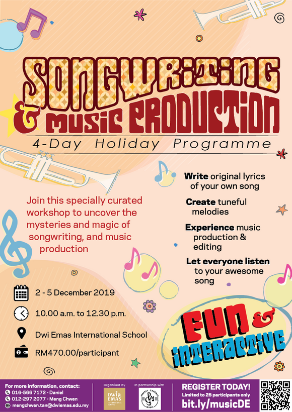 Songwriting & Music Production Holiday Programme