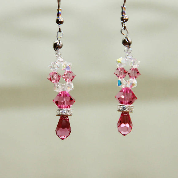 Elegant Pink Earrings