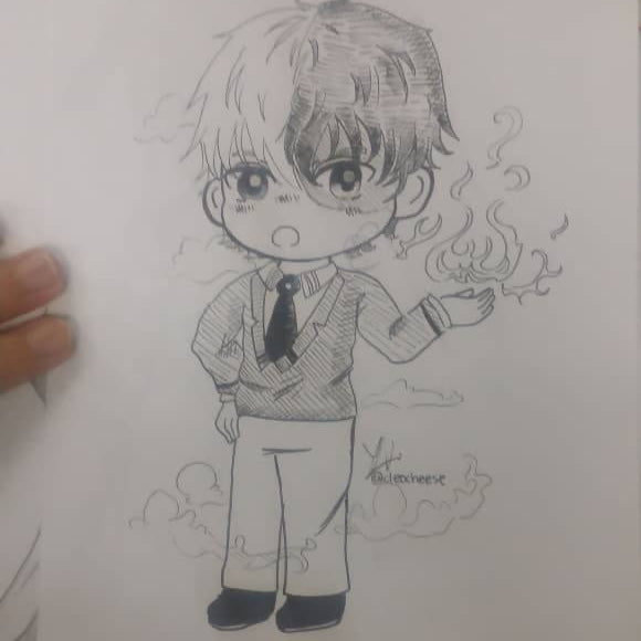 Custom Chibi Drawing (Traditional Lineart)