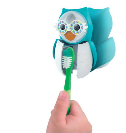 Flipper Toothbrush Cover Holder Hygiene Portable Owl With Sand Timer
