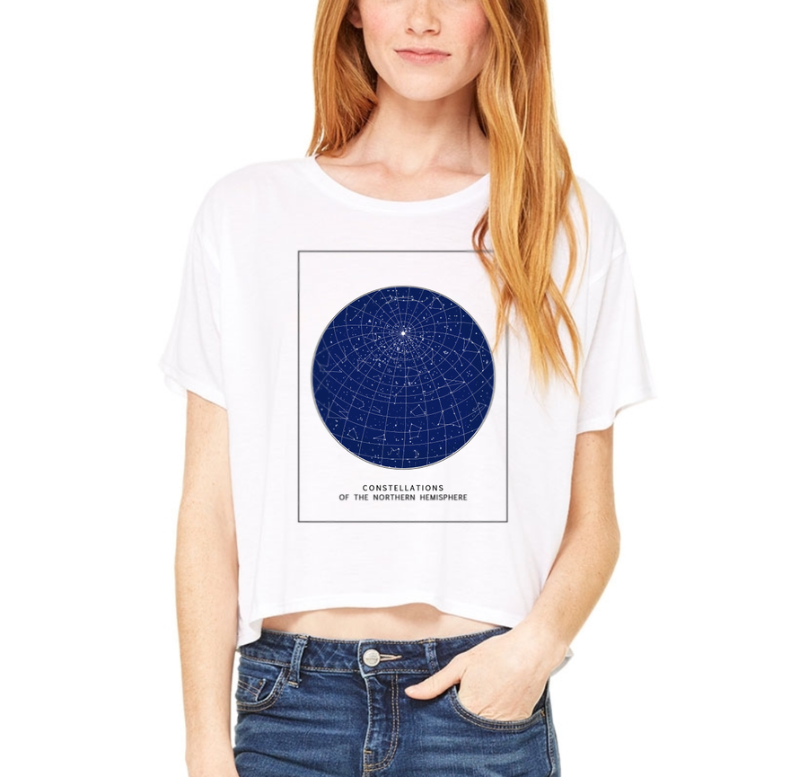 Star Map Cropped Tee