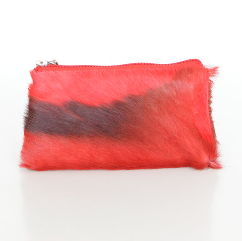 COSMETIC POUCH - RED