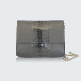 CONVERTIBLE CLUTCH - GREY NICKY TRIM