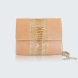 CONVERTIBLE CLUTCH - BRONZE NICKY TRIM