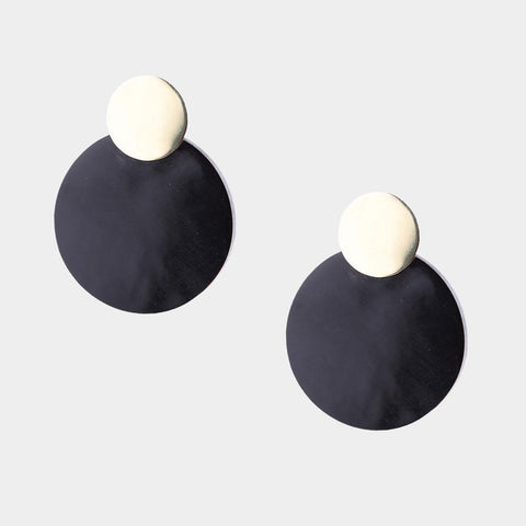 MAXI COIN CONTRAST STUDS