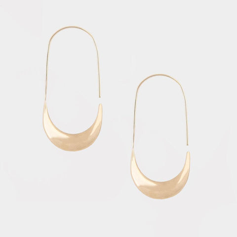 MEZI LARGE HOOP EARRINGS - BRASS