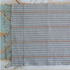MAGNOLIA PLACEMATS - DENIM, BONE & BROWN (SET OF FOUR)