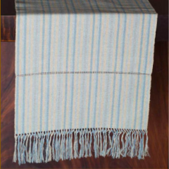 MAGNOLIA STRIPES TABLE RUNNER - OLIVE & DENIM