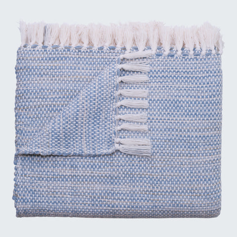 SANTA MARIA THROW - JASPE DENIM & BONE
