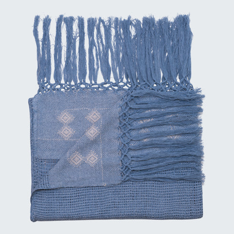 RABINAL THROW - DENIM & BONE