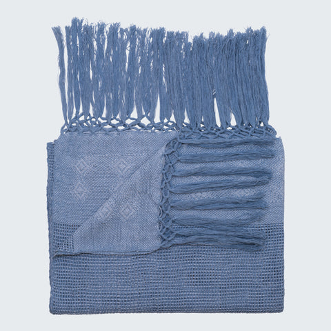RABINAL THROW - DENIM & MIXED JADE