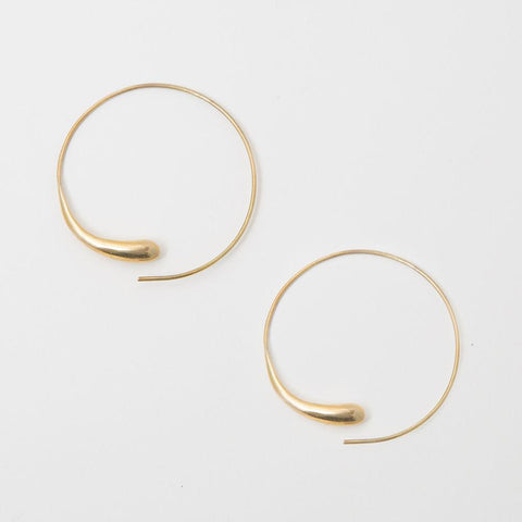 DASH HOOP EARRINGS - BRASS