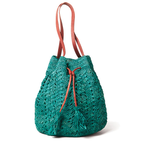 SANIBEL SHOULDER BAG - AQUA
