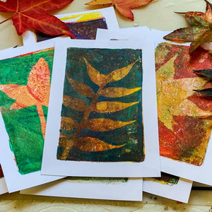 Layered Monoprinting with Leaves