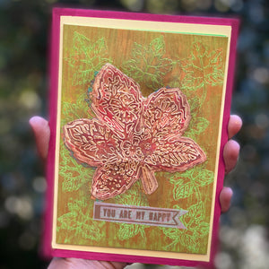 Autumn-inspired greeting card