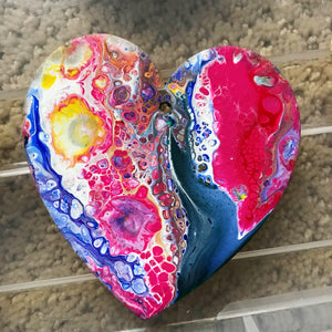 Fluid Art Christmas Ornaments