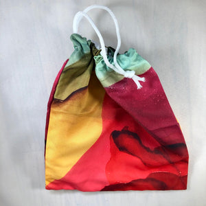 """Fragmented"" Drawstring Pouch"