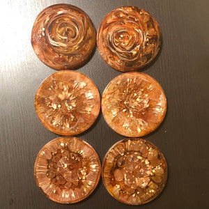 Custom set of six coasters