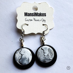 Monochrome series: Dangle earrings 1