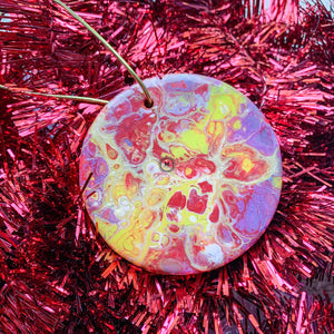 Round Ceramic Ornament 4