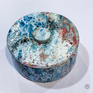 Fluid Art Ceramic Trinket Box 2