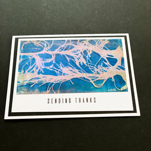Metallic Sending Thanks Card