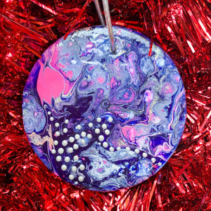 Round Ceramic Ornament 9