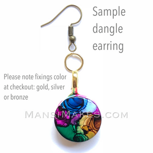 Handpainted earrings: Indian Wedding