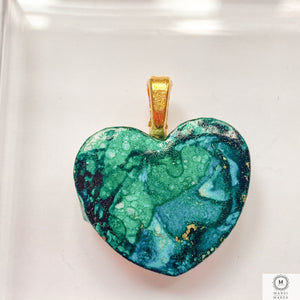 Mini Heart Pendant — Gorgeous Green