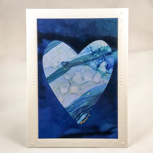 Heart Series Greeting Card - Blue