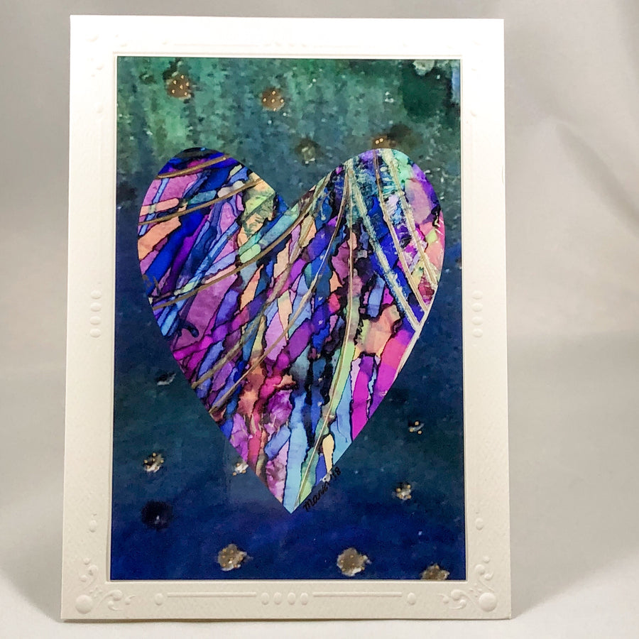 Heart Series Greeting Card - Ribbons