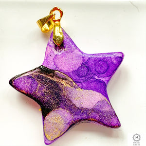 Ceramic Star Pendant: Purple Haze