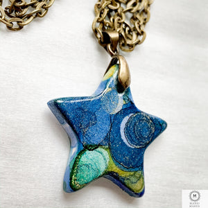 Ceramic Star Pendant: Starry Nights
