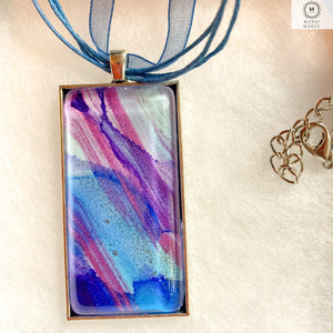 Rectangular Pendant Necklace 3