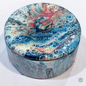 Fluid Art Ceramic Trinket Box 1