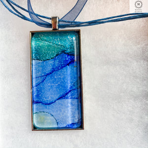 Rectangular Pendant Necklace 7