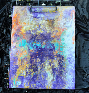 Custom fluid art clipboard