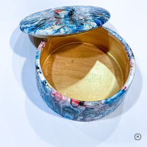 Fluid Art Ceramic Trinket Box 3