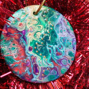 Round Ceramic Ornament 7
