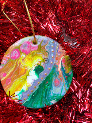 Round Ceramic Ornament 8