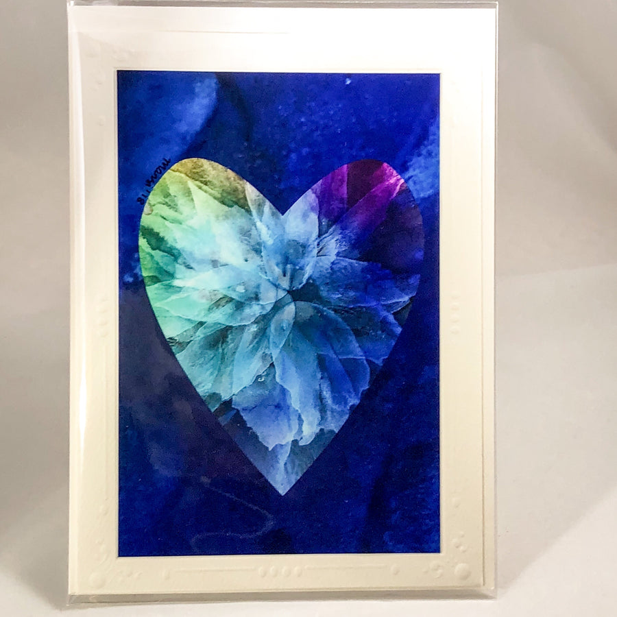 Heart Series Greeting Card - Floral2