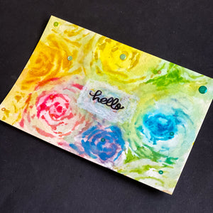 Rainbow Flowers Postcard