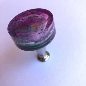 Handcrafted Bottle Stopper: Folds of Time