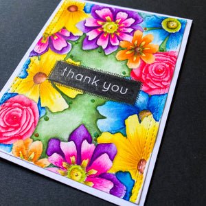 Fun Flowers Gratitude Card