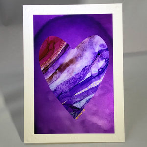 Heart Series Greeting Card - Purple