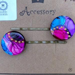 Handpainted Hairpin 2